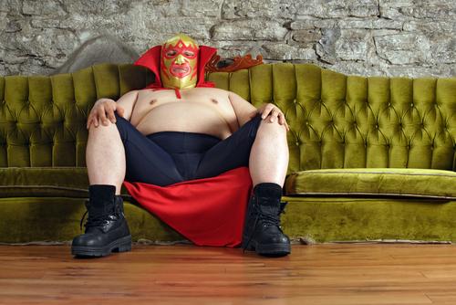 lutador mexicano sem camisa