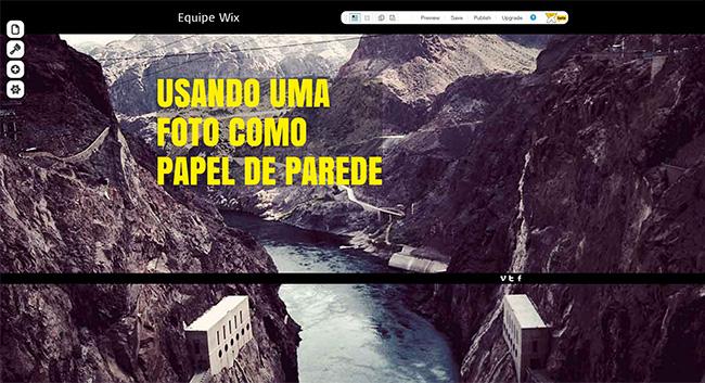 Editor Wix em HTML5