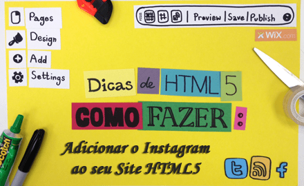 Dicas de HTML5 - Adicionando o Instagram Ao Seu Site - 0