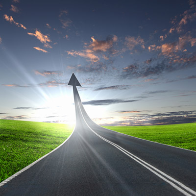 estrada levando aos céus