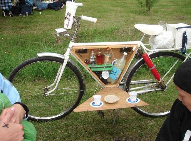 bicicleta com porta-comida