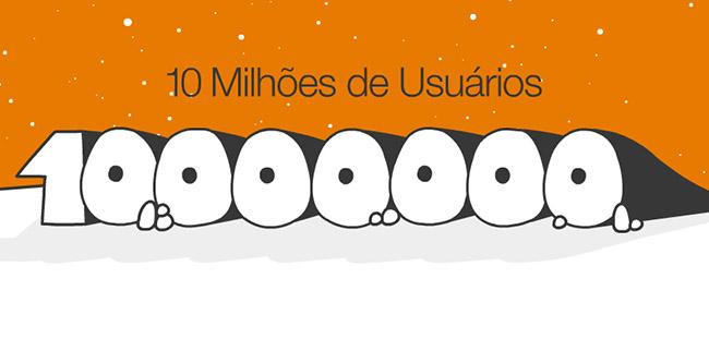 10 milhões de usuários