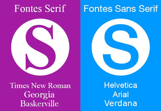 diferenças entre fontes