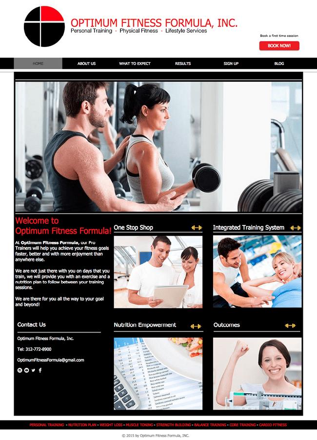 Optimum Fitness Formula