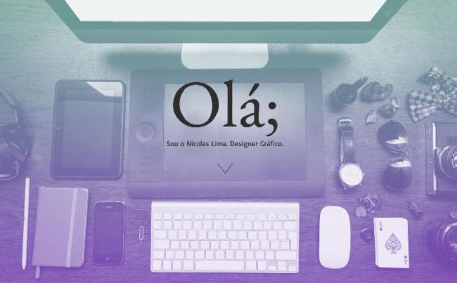 Template Wix - Portfólio de Designer Gráfico