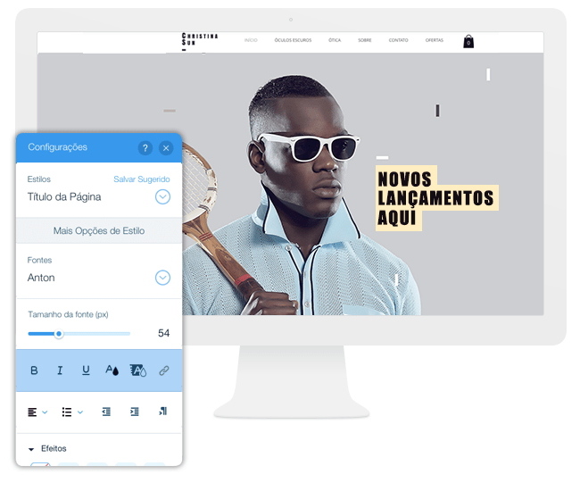 Editor Wix - Texto