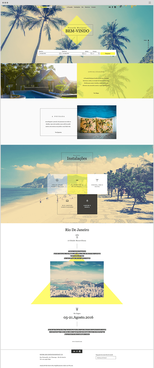 Rio Pousada Wix Website Template
